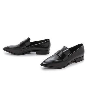Jeffrey Campbell Belanger black leather loafers 7